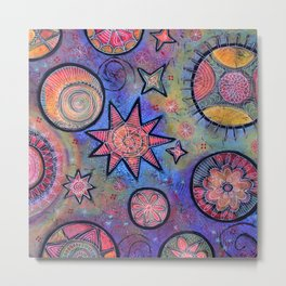 Celestial Stars - Sending Love and Healing Light  Metal Print