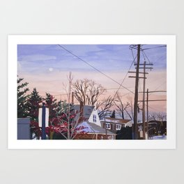 Sunset in NY Art Print