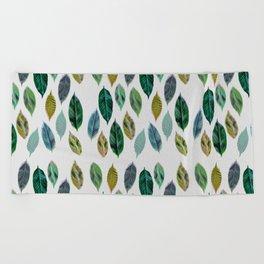 Green Leaves 2 Beach Towel