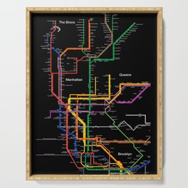 New York City subway map Serving Tray