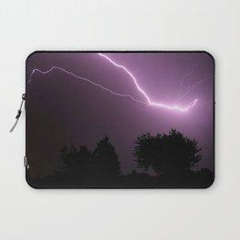 Purple Lightning Night Sky Laptop Sleeve