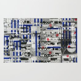 The Way of Invisible Things (P/D3 Glitch Collage Studies) Rug