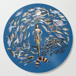 Mermaid in Monaco Cutting Board