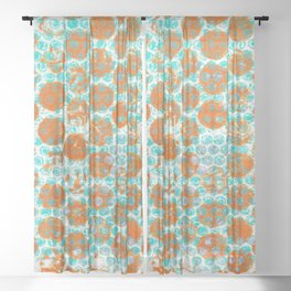 Oranges Sheer Curtain