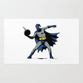 Bat Throwing Bomb Rug
