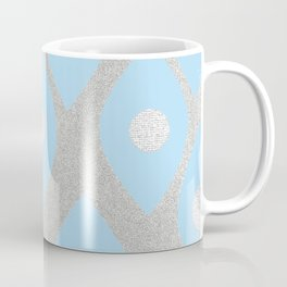 Eye Pattern Blue Coffee Mug