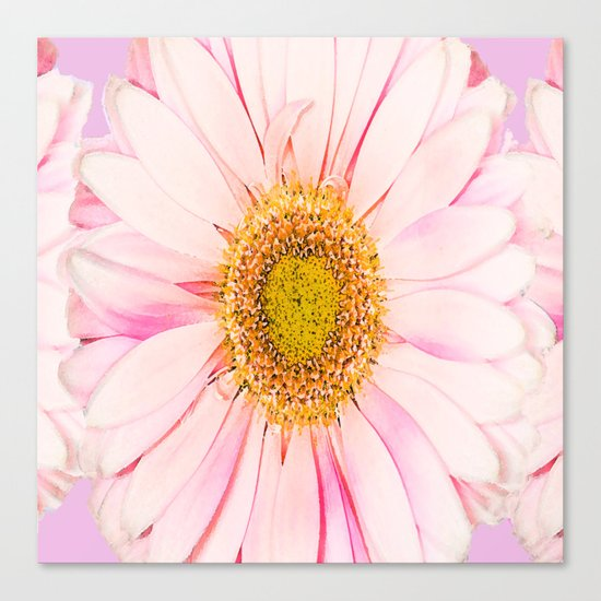 Pink flower with pink background - lovely girlish summer feeling Canvas Print