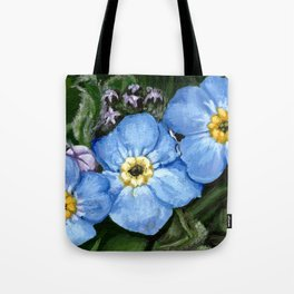 Do not forget me - azorean flora Tote Bag
