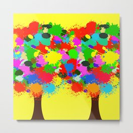 two color trees together Metal Print