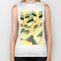 striped Biker Tanks featuring striped by Herb Vaine