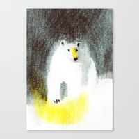 polar bear Canvas Prints featuring Polar Bear by Linette No