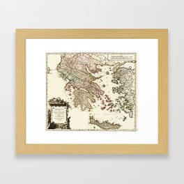 1752 Map of Greece Framed Art Print