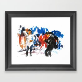 Pulp Fiction dance Framed Art Print