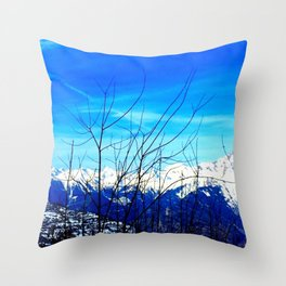 From the ground above Throw Pillow