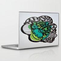 brain Laptop & iPad Skins featuring Brain by Melisa Cole
