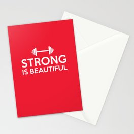 Strong is beautiful Stationery Cards