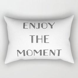 Text Art ENJOY THE MOMENT Rectangular Pillow