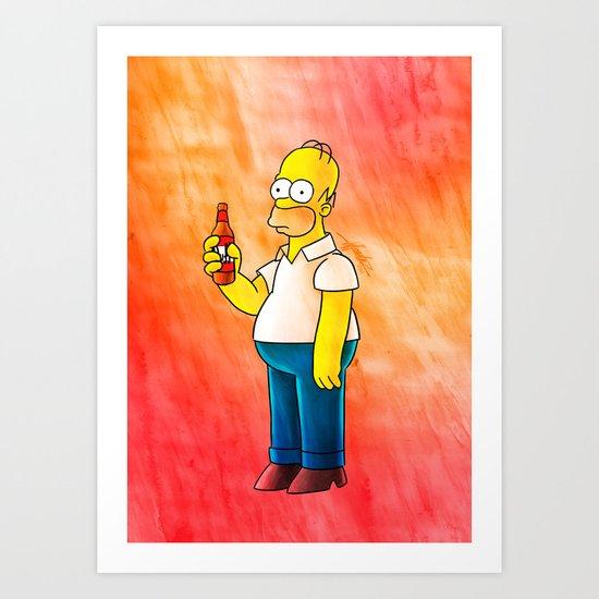 Homer & Duff Art Print