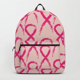 Grunge pink ribbon Backpack