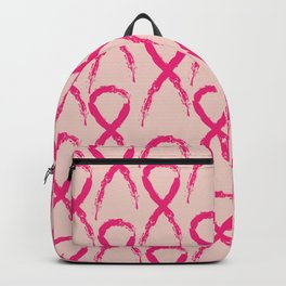 Grunge pink ribbon Backpack