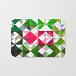 Pink Roses in Anzures 6 Abstract Triangles 1 Bath Mat