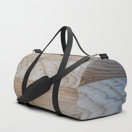 Light Wood Texture Duffle Bag