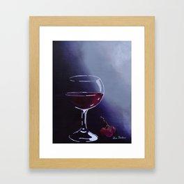 Wine-Ding Down Framed Art Print