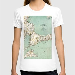 Cap Cod and Vicinity Map T-shirt