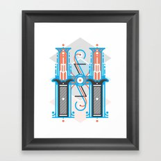 H dropcap Framed Art Print
