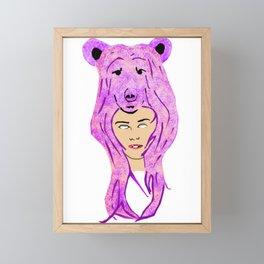 dog and female Framed Mini Art Print