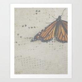DREAMY MONARCH Art Print