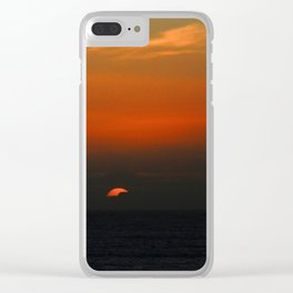 cloudy sunset seascape Clear iPhone Case