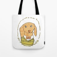 dachshund Tote Bags featuring Dachshund by MariyArti