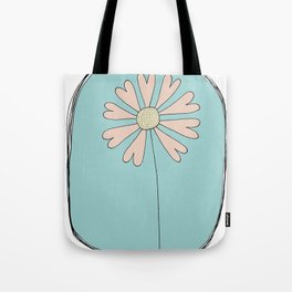 Flowers Have Hearts Tote Bag