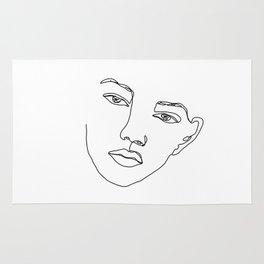 Face one line illustration - Eris Rug