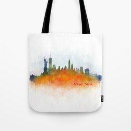 New York City Skyline Hq V03 Tote Bag