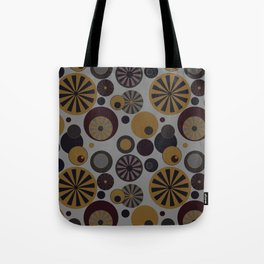 Circle Frenzy - Grey Tote Bag