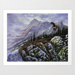 Redtail Hunter Art Print