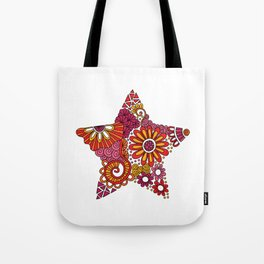 Bright Star Doodle Tote Bag