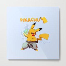 Pika's Chidori Metal Print