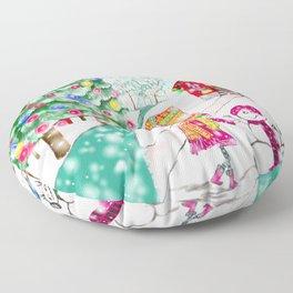 Snowgirl Floor Pillow