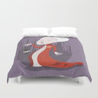 dracula Duvet Covers featuring Dracula by Rod Perich