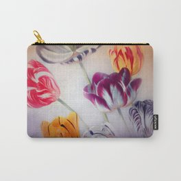painted tulips on pastell background -b- Carry-All Pouch