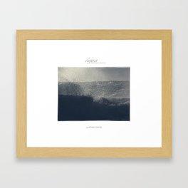 """coleção quatro elementos """"água"""" Framed Art Print"""