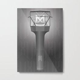 KPOP, Monsta X Lightstick Version 2, Mondoongie, Monbebe Fandom Metal Print