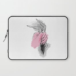 Huge hand squeeezing womans body. Laptop Sleeve