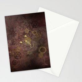 Steampunk Zodiac  Scorpio Stationery Cards