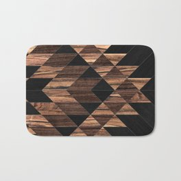 Urban Tribal Pattern No.11 - Aztec - Wood Bath Mat