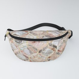 Rosy Marble Moroccan Tile Pattern Fanny Pack