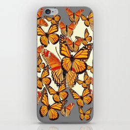 MONARCH BUTTERFLY'S MASSING FOR MIGRATION iPhone Skin